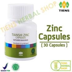 Dapatkan Segera Tiens Herbal Shop Zinc 30 Capsules Penggemuk Badan Obat Penggemuk Badan Penambah Nafsu Makan Suplemen Penggemuk