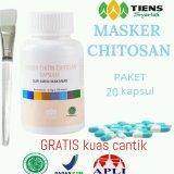 Tiens Masker Chitin Herbal Promo Gratis Kuas Murah