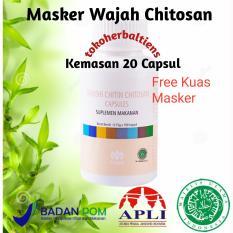 Tiens Masker Chitosan Herbal Anti Jerawat - 20 Kapsul + Free Kuas Kuas