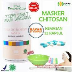 Beli Tiens Masker Chitosan Herbal Anti Jerawat Paket 25 Kapsul Free Kuas Lengkap