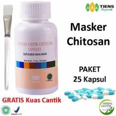 Jual Tiens Masker Chitosan Herbal Anti Jerawat Paket 25 Kapsul Gratis Kuas Indonesia Murah