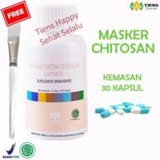 Ulasan Mengenai Tiens Masker Chitosan Herbal Anti Jerawat Paket 30 Kapsul By Nikmatiens Gratis Kuas