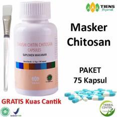 Spesifikasi Tiens Masker Chitosan Herbal Anti Jerawat Paket 75 Kapsul Gratis Kuas Lengkap Dengan Harga