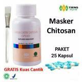 Tiens Masker Chitosan Herbal Paket 25 Kapsul Gratis Kuas Tiens Diskon 30