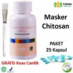 Jual Beli Tiens Masker Chitosan Herbal Paket 25 Kapsul Gratis Kuas Original Tiens Herbal Store Di Jawa Timur