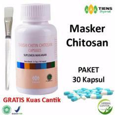 Toko Tiens Masker Chitosan Herbal Paket 30 Kapsul Gratis Kuas Online Terpercaya