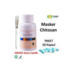 Spesifikasi Tiens Masker Chitosan Herbal Paket 50 Kapsul Gratis Kuas Dan Harganya