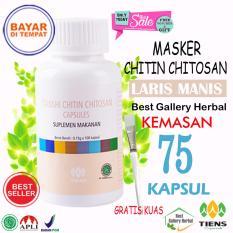 Obral Tiens Masker Chitosan Herbal Paket 75 Kapsul Gratis Kuas Murah