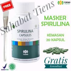 Promo Tiens Masker Hijau Pemutih Wajah Spirulina Herbal Terpercaya Paket 20 Kapsul Free Kartu Member St Tiens