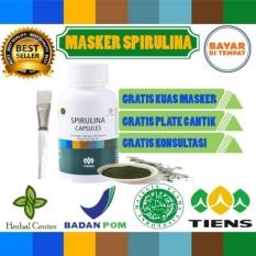 Tiens masker spirulina herbal 10 kapsul (Obat jerawat) FREE (KUAS khusus wajah & PLATE) + Free Gift untuk 10 pembeli pertama setiap harinya
