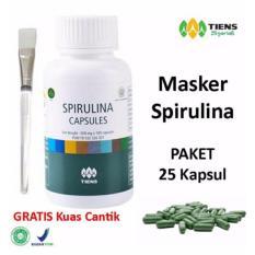 Jual Tiens Masker Spirulina Herbal Paket 25 Kapsul Gratis Kuas Online