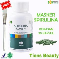 Ulasan Lengkap Tiens Masker Spirulina Herbal Pemutih Wajah Original Tiens Beauty Paket 30 Kapsul Gratis Kuas