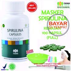 Penawaran Istimewa Tiens Masker Spirulina Herbal Pemutih Wajah Paket 100 Kapsul Terbaru