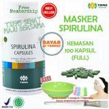 Pusat Jual Beli Tiens Masker Spirulina Herbal Pemutih Wajah Paket 100 Kapsul Free Kuas Jawa Timur