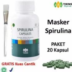 Jual Beli Online Tiens Masker Spirulina Herbal Pemutih Wajah Paket 20 Kapsul