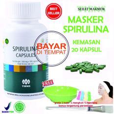 Cuci Gudang Tiens Masker Spirulina Herbal Pemutih Wajah Paket 20 Kapsul