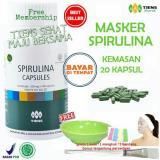 Review Tiens Masker Spirulina Herbal Pemutih Wajah Paket 20 Kapsul Free Kuas
