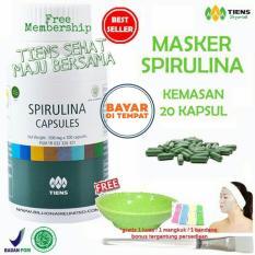 Jual Tiens Masker Spirulina Herbal Pemutih Wajah Paket 20 Kapsul Free Tsmb Gift Branded