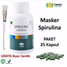 Beli Tiens Masker Spirulina Herbal Pemutih Wajah Paket 25 Kapsul Gratis Kuas Tiens Online