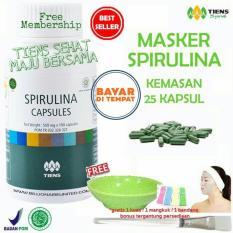 Harga Tiens Masker Spirulina Herbal Pemutih Wajah Paket 25 Kapsul Gratistsmb Gift Dan Spesifikasinya