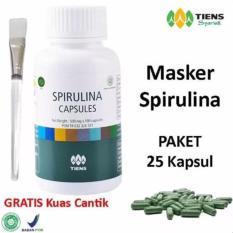 Harga Tiens Masker Spirulina Herbal Pemutih Wajah Paket 25 Kapsul Gratis Kuas Original