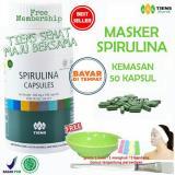 Cara Beli Tiens Masker Spirulina Herbal Pemutih Wajah Paket 50 Kapsul Free Kuas