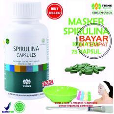 Spesifikasi Tiens Masker Spirulina Herbal Pemutih Wajah Paket 75 Kapsul Baru