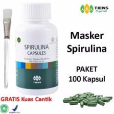 Beli Tiens Masker Spirulina Paket 100 Kapsul Gratis Kuas Cantik Murah