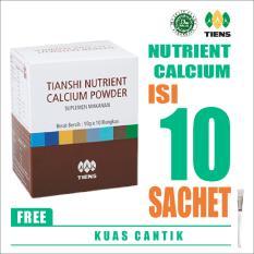 Tiens Nutrient Calcium Powder + FREE KUAS MASKER - Kalsium Dewasa Tianshi - Susu Peninggi Badan - NHCP - 1 Box isi 10 Sachet