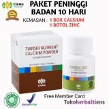 Jual Tiens Nutrisi Peninggi Bada Paket Banting Harga 1 Box Calsium 1 Botol Zinc Proma Free Kartu Member Tokoherbaltiens Tiens Original