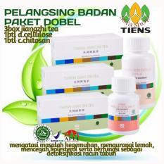 Review Tiens Paket Herbal Pelangsing Perontok Lemak Pencegah Kolesterol Dan Darah Tinggi Jiang Zhi Tea Chitin Chitosan Double Cellulose By Silfa Shop Terbaru