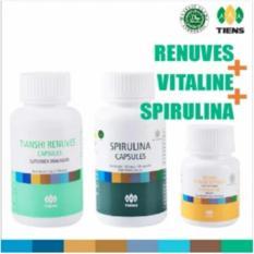 Diskon Produk Tiens Paket Pemutih Badan Premium Vitaline Renuves Spirulina Herbal Whitening Skin Pencerah Kulit Ori Tianshi