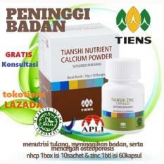 Harga Tiens Paket Peninggi Badan Basic Zinc Nutrient Calcium Powder Nhcp Kalsium Tianshi Ori Herbal Termahal