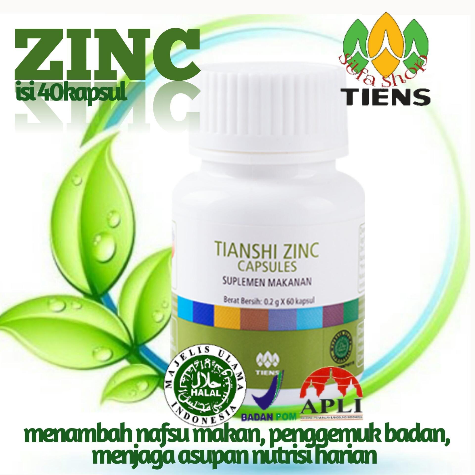 Beli sekarang tiens penambah nafsu makan ( zinc penggemuk badan isi 40kapsul ) by silfa shop terbaik murah - Hanya Rp179.740