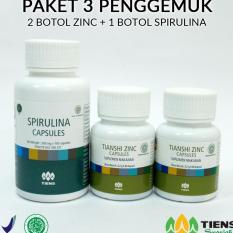 Toko Zinc Tiens Paket Penggemuk Paket 1 1 Botol Spirulina 2 Botol Zinc Promo Banting Harga Free Member Card Tokoherbaltien Terlengkap Jawa Timur