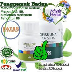 Toko Jual Herbal Penggemuk Badan Tiens Zinc Capsule Dan Spirulina Capsule Terbukti Menambah Berat Badan Dalam 1 Minggu By Afiyah Herbal Di Jawa Timur