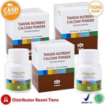 Tiens Peninggi Badan Herbal Paket 3 Promo (3 Kalsium + 2 Zinc) + Free ...