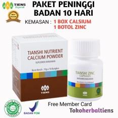 Beli Tiens Peninggi Badan Paket 1 Box Calsium 1 Botol Zinc Promo Banting Harga Free Member Diskon Tokoherbaltiens Murah