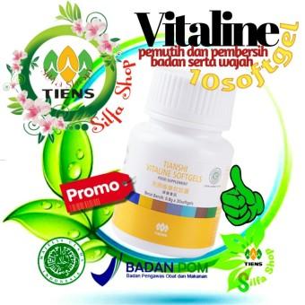 Harga Penawaran tiens vitaline isi 10 softgel - pemutih badan dan wajah kaya akan vit E