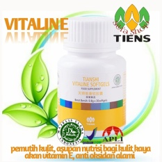 Harga Tiens Vitaline Pemutih Kulit Herbal Alami Isi 30 Softgels Promo By Silfa Shop Freegift Tiens Baru