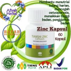 Tiens Zinc 60 Kapsul Penggemuk dan Peninggi Badan Terbukti 100% by Afiyah Herbal