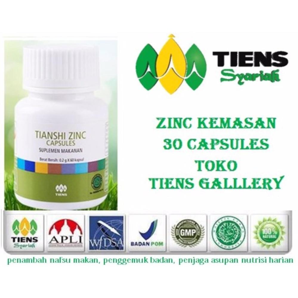 Tiens Zinc Peninggi dan penggemuk  Badan  paling cepat Suplemen Makanan Terbaik di Lazada Kemasan 30 Kapsul