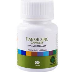 Jual Beli Online Tiens Zinc Capsules Original Tianshi 1 Botol Isi 60 Kapsul
