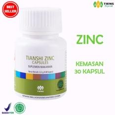 Beli Tiens Zinc Capsules Original Tianshi 1 Botol Plastik Isi 30 Kapsul Terbaru