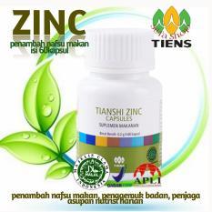 Spesifikasi Tiens Zinc Capsules Penambah Nafsu Makan Isi 60Kapsul Promo Silfa Shop Dan Harganya