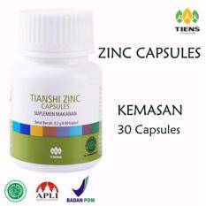 Obral Tiens Zinc Capsules Penggemuk Badan Herbal Promo Kemasan 30 Kapsul Original Tiens Herbal Store Murah