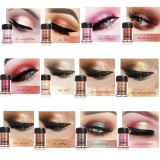Beli Tmishion Modis Glitter Eyeshadow Kecantikan Mata Pigmen Bubuk Bibir Longgar Riasan Alat 1 Terbaru