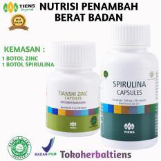 Jual Toko Herbal Tiens Paket 2 Penambah Berat Badan 1 Botol Spirulina 1 Botol Zicn Free Member Card Tokoherbaltiens Ori