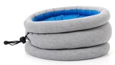 Harga Hemat Tokokadounik Ostrich Pillow Bantal Tidur Magic Biru Abu Abu