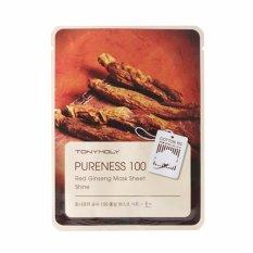 Tony Moly Pureness 100 Red Ginseng Mask Sheet Brightening + Nourishing Original Korea - 1 Pcs